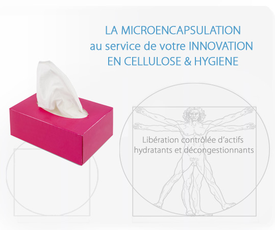 LA MICROENCAPSULATION au service de votre INNOVATION EN CELLULOSE & HYGIENE